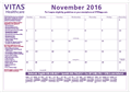 Desk Pad Calendar - Nov 2016 thru Dec 2017 - <b>SOLD BY THE CASE 40/CASE