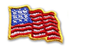 American Flag Embroidered Sticker - Sheets of 50 Available to Ship November 1