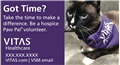 New Volunteer Recruitment Magnet Paw Pal Cat - Please allow 2-3 weeks for delivery